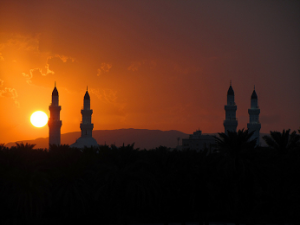 Masjid Quba sunset