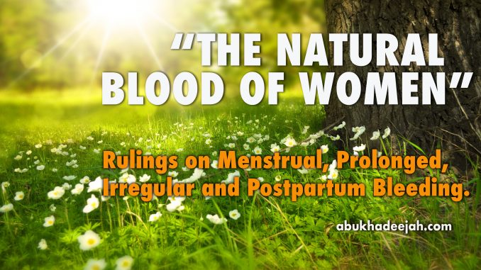 A woman who suffers from prolonged bleeding (istiḥāḍah) and